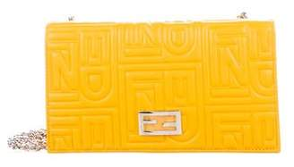 Fendi Embossed Leather Wallet on Chain