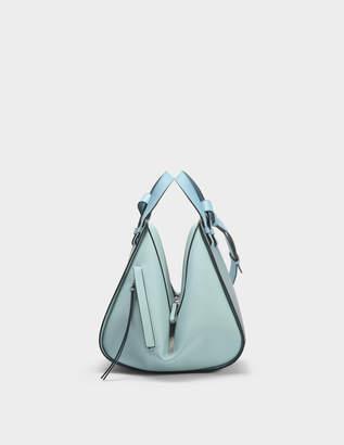 Loewe Hammock Small Bag in Stone Blue Multitone Calfskin