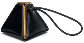 Bottega Veneta Triangle Bag in Black & Gold | FWRD