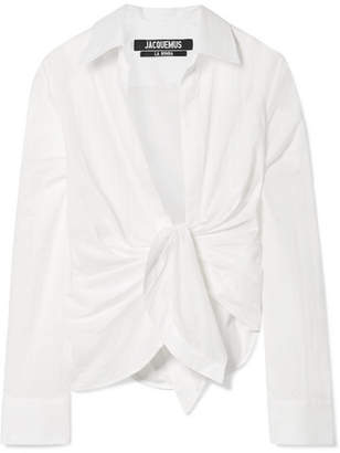 Jacquemus Bahia Knotted Cotton Shirt - Off-white