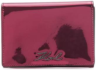 Karl Lagerfeld Signature Gloss fold wallet
