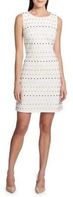 Tommy Hilfiger Ponte Dot Embellished A-Line Dress