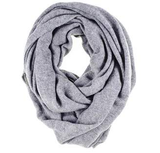 Black Grey Double Size Knitted Cashmere Snood