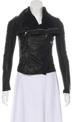 Rick Owens Zip-Up Leather Jacket