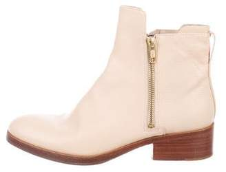 3.1 Phillip Lim Leather Round-Toe Ankle Boots