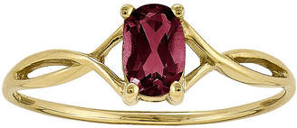 FINE JEWELRY Lead Glass-Filled Ruby 14K Yellow Gold Birthstone Ring