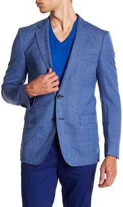 BOSS Nobis Turquoise Aqua Two Button Notch Lapel Virgin Wool Sport Coat