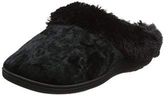 Isotoner Women's Crushed Velour Mule Open Back Slippers,38 EU