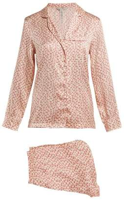 Stella McCartney Ellie Handwritten Stretch Silk Pyjama Set - Womens - Nude Multi