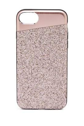 Nanette Lepore Angled Rose Gold Glitter iPhone 6/6S/7/8 Case