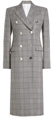 Calvin Klein Printed Virgin Wool Coat