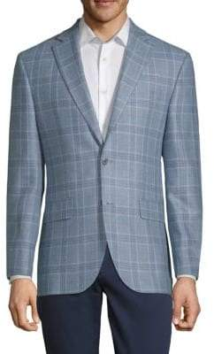 Jack Victor Plaid Long-Sleeve Sportcoat