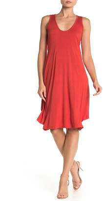 Papillon Scoop Neck Jersey Tank Dress