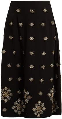Elizabeth and James Lottie embellished cady midi skirt