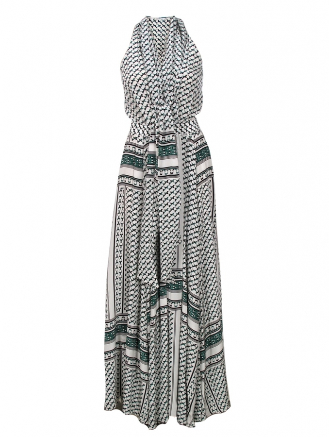 Derek Lam 10 Crosby by Maxi Dress with Neck Tie