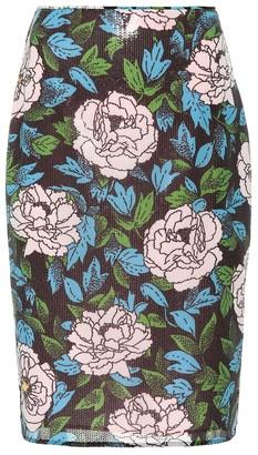 Diane von Furstenberg Floral sequinned skirt