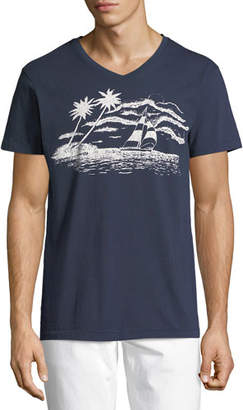 Sol Angeles Sail Away Graphic V-Neck T-Shirt