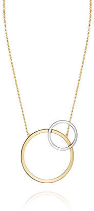 Vita Fede Sole Two-Tone Circle Necklace