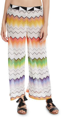 Missoni Mare Zigzag Mesh Pull-On Coverup Pants