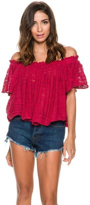 Free People Thrills And Frills Off The Shoulder Shirt $128 thestylecure.com