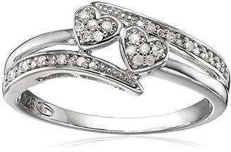 ed9eb23ab1 Diamond Friendship Twin Heart Promise Ring