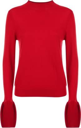 Jaeger Wool Fluted Sleeve Sweater