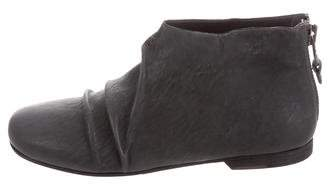 Henry Beguelin Leather Round-Toe Booties w/ Tags
