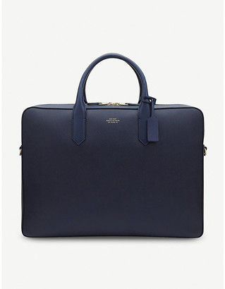 Smythson Panama Large Leather Briefcase
