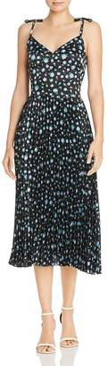 Betsey Johnson Pleated Floral Print Dress