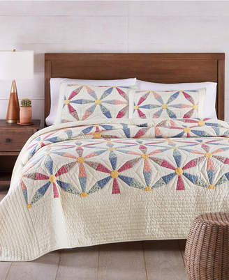 Martha Stewart Collection Daisy Wheel Artisan Twin Quilt
