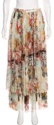 Blumarine Silk Printed Maxi Skirt