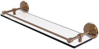 ALLIED BRASS Allied Brass Monte Carlo 22 IN Tempered Glass Shelf With Gallery Rail