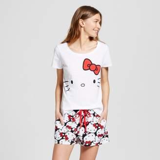 Hello Kitty Women's Hello Kitty Tee and Boxer Pajama Set $17.99 thestylecure.com