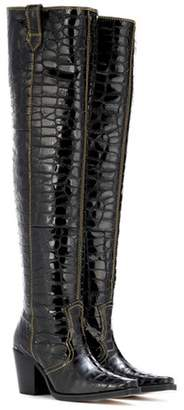 Ganni Nadine over-the-knee leather boots