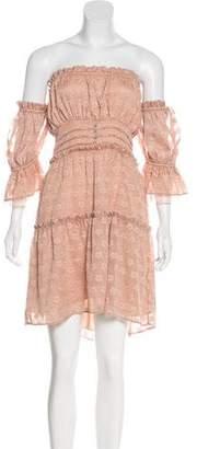 For Love & Lemons Off-The-Shoulder Mini Dress