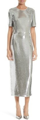 Women's Diane Von Furstenberg Sequin Midi Dress $1,300 thestylecure.com