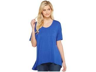 Heather Slouchy Pocket Tee Women's T Shirt