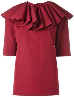 Nina Ricci ruffled neck blouse