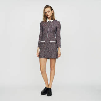 Maje Tweed shirt dress