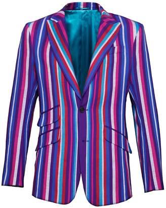 Koy Clothing - Purple Striped Blazer Kamba