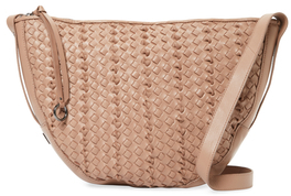 Sabine Woven Leather Saddle Crossbody $398 thestylecure.com