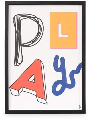 Oliver Bonas Play Framed Wall Art A3