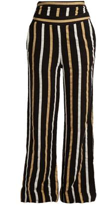 Ace&Jig Dancin striped textured-cotton wide-leg trousers