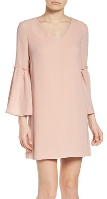 Women's Chelsea28 Ruffle Bell Sleeve Dress $149 thestylecure.com