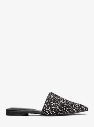 Michael Kors Darla Leopard Calf Hair Mule
