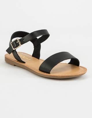 Soda Sunglasses Ankle Strap Girls Black Sandals
