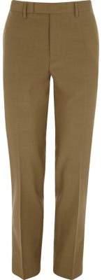 River Island Brown slim fit suit pants