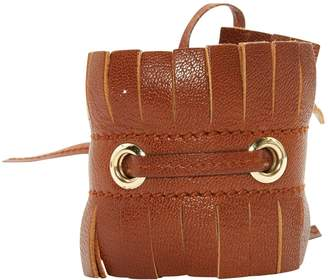 Saint Laurent Vintage Brown Leather Bracelets