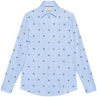 Gucci UFO and symbols fil coupé shirt