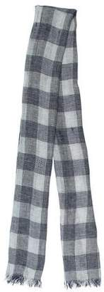 Brunello Cucinelli Linen Plaid Scarf